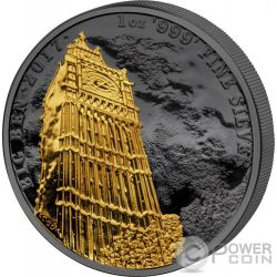 BIG BEN Golden Enigma 1 Oz Moneta Argento 2£ United Kingdom 2017