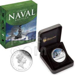 JUTLAND Naval Battle 1916 Silber Münze 1$ Cook Islands 2011