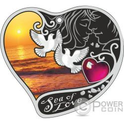 SEA OF LOVE Mar Amor Moneda Plata 1$ Niue 2017