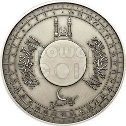 MECCA QIBLA COMPASS Magnetic COTY Moneda Of The Year 2012 Plata 1000 Francs Ivory Coast 2010