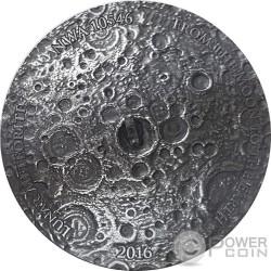 LUNAR METEORITE NWA 10546 Nano Chip 1 Oz Серебро Монета 1000 Франков Буркина-Фасо 2016