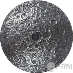 LUNAR METEORITE NWA 10546 Nano Chip Mondmeteorit 1 Oz Silber Münze 1000 Francs Burkina Faso 2016