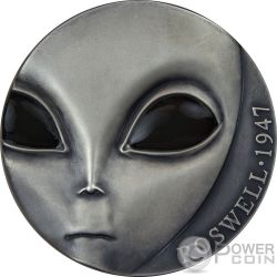ROSWELL INCIDENT 70. Jahrestag UFO 3 Oz Silber Münze 3000 Francs Cameroon 2017