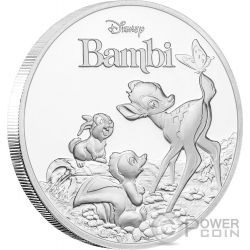 BAMBI 75th Anniversary Disney 1 Oz Silver Coin 2$ Niue 2017