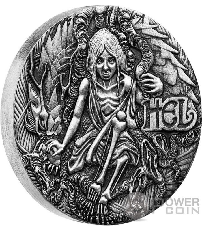 Hel Norse Goddesses 2 Oz Silver Coin 2 Tuvalu 2017
