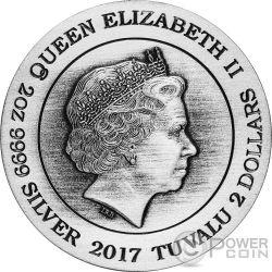 HEL Norse Goddesses 2 Oz Silber Münze 2$ Tuvalu 2017