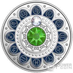 VIRGO Zodiac Swarovski Crystal Silver Coin 3$ Canada 2017