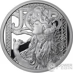 JOB Alphonse Mucha Collection 1 Oz Proof Silber Medal 2017