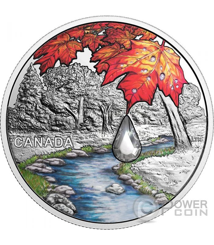 Sugar Maple Leaves Jewel Of The Rain Swarovski 1 Oz Silver