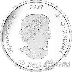 SUGAR MAPLE LEAVES Jewel Of The Rain Swarovski 1 Oz Silver Coin 20$ Canada 2017