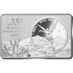 LIBERTAD 35th Anniversary 1 Oz Silver Coin 2 Oz Set Mexico 2017
