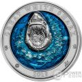 GREAT WHITE SHARK Squalo Bianco Underwater World 3 Oz Moneta Argento 5$ Barbados 2018