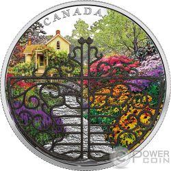 GATE TO ENCHANTED GARDEN Cancello Giardino 2 Oz Moneta Argento 30$ Canada 2017