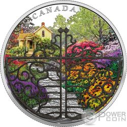 GATE TO ENCHANTED GARDEN Porton Jardin 2 Oz Moneda Plata 30$ Canada 2017