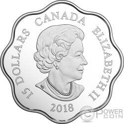 YEAR OF THE DOG Perro Lunar Lotus Moneda Plata 15$ Canada 2018