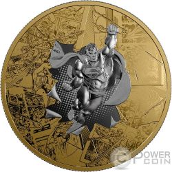 SUPERMAN BRAVE AND THE BOLD DC Comics Originals 3 Oz Moneda Plata 50$ Canada 2017