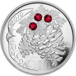 PINE CONE RUBY Pinecone Moneta Argento 20$ Canada 2010