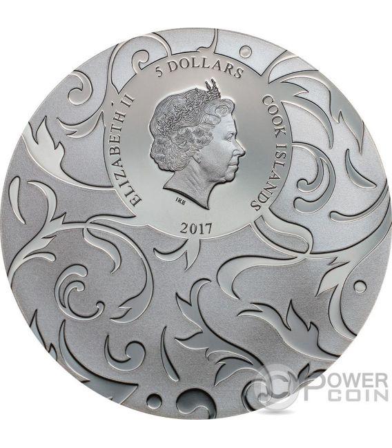 SCARAB SELECTION II Set 3x1 Oz Silver Coins 5$ Cook Islands 2017