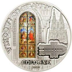WINDOWS OF HEAVEN COLOGNE Moneda Plata 10$ Cook Islands 2010