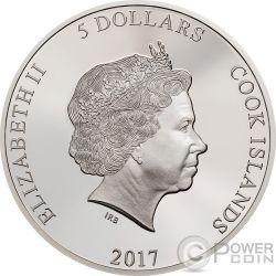 COBRA Schlange Magnificent Life 1 Oz Silber Münze 5$ Cook Islands 2017
