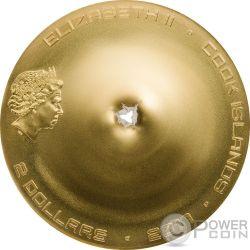 CHERGACH Meteorite Impacts Серебро Монета 2$ Острова Кука 2017