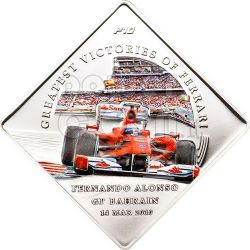 FERRARI F10 Greatest Victories Alonso Bahrain Coin 1$ Palau 2010