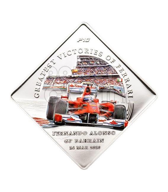 FERRARI F10 Greatest Victories Alonso Bahrain Coin 1$ Palau 2010
