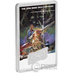 STAR WARS Empire Strikes Back 1 Oz Moneda Plata 2$ Niue 2017