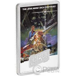 STAR WARS Empire Strikes Back 1 Oz Silver Coin 2$ Niue 2017