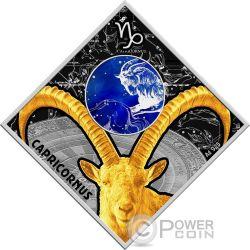 CAPRICORN Capricorno Zodiac Signs Moneta Argento 100 Denars Macedonia 2018