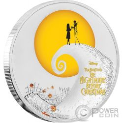 NIGHTMARE BEFORE CHRISTMAS Disney 1 Oz Moneda Plata 2$ Niue 2017