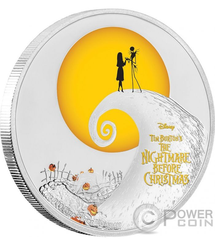 1 Oz Silver Coin Disney Tim Burtons The Nightmare Before Christmas 2020 Australia NIGHTMARE BEFORE CHRISTMAS Disney 1 Oz Silver Coin 2$ Niue 2017