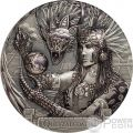 QUETZALCOATL Serpente Piumato Gods Of The World 3 Oz Moneta Argento 20$ Cook Islands 2017
