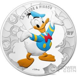 DONALD DUCK DuckTales Bande a Picsou Disney Серебро Монета 10€ Euro Франция 2017
