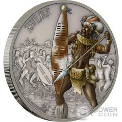 ZULUS Warriors of History 1 Oz Silver Coin 2$ Niue 2017
