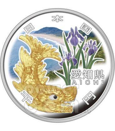 AICHI 47 Prefetture (11) Moneta Argento 1000 Yen Giappone 2010