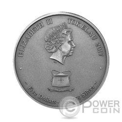 POSEIDON Greek God of the Sea Creatures of Myth and Legend 1 Oz Silver Coin 5$ Tokelau 2017