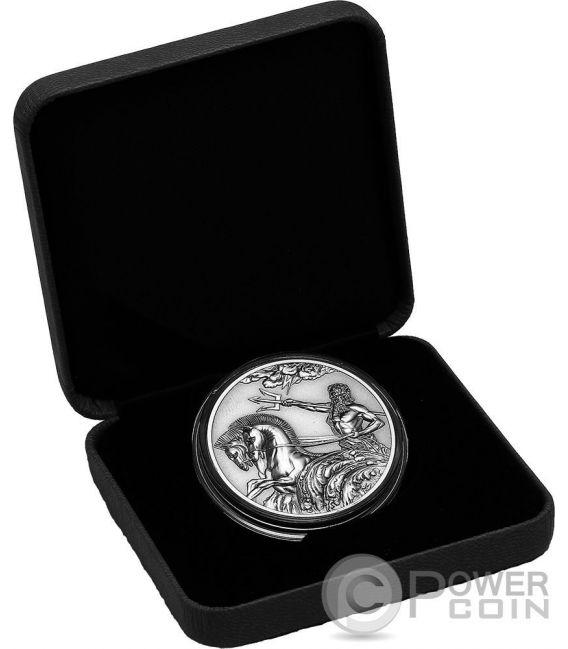 POSEIDON Dios Griego del Mar Creatures of Myth and Legend 1 Oz Moneda Plata 5$ Tokelau 2017