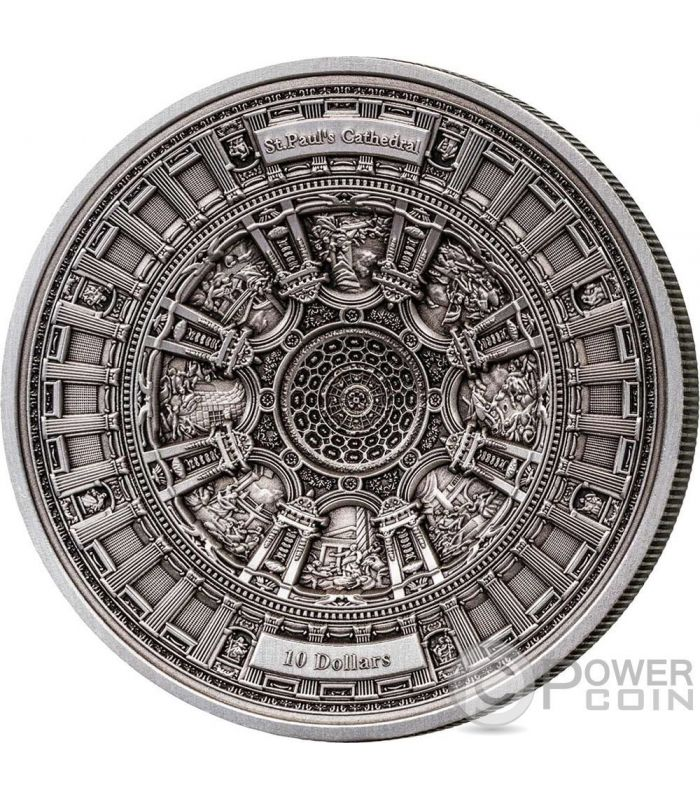 St Pauls Cathedral 4 Layer Silver Coin 10 Samoa 2017