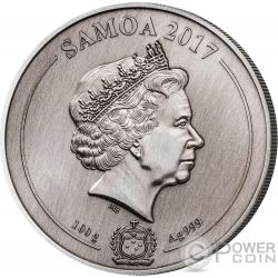 ST PAULS CATHEDRAL Catedral San Pablo 4 Layer Moneda Plata 10$ Samoa 2017
