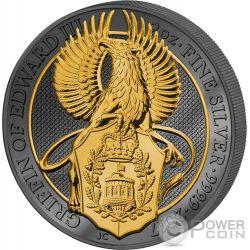 GRIFFIN Grifone Queen Beasts Golden Enigma 2 Oz Moneta Argento 5£ United Kingdom 2017