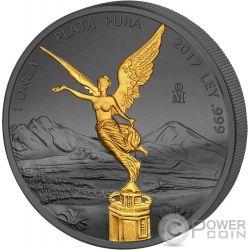 LIBERTAD Liberty Golden Enigma 1 Oz Silver Coin Mexico 2017