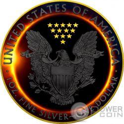 TOTAL SOLAR ECLIPSE Sonnenfinsternis Eagle Walking Liberty 1 Oz Silber Münze 1$ US Mint 2017