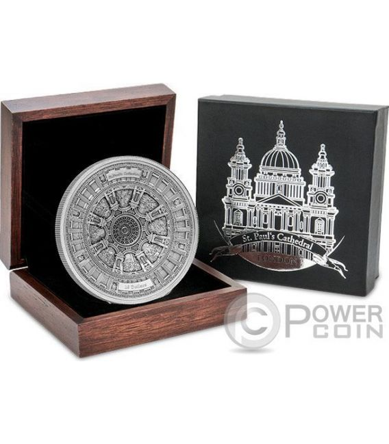 ST PAULS CATHEDRAL Cattedrale San Paolo 4 Layer Moneta Argento 10$ Samoa 2017