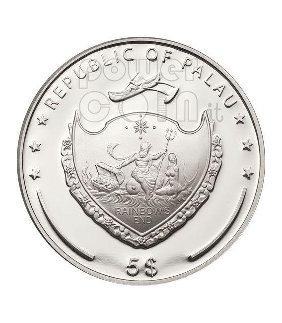 FOUR LEAF CLOVER Ounce Of Luck Moneda Plata 5$ Palau 2011