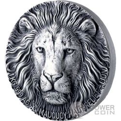 LION Leon Big Five Mauquoy 1 Kg Kilo Moneda Plata 10000 Francos Ivory Coast 2017