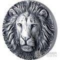 LION Leone Big Five Mauquoy 1 Kg Kilo Moneta Argento 10000 Franchi Ivory Coast 2017