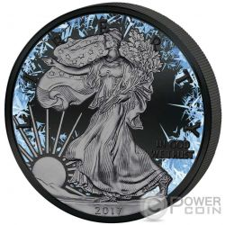 WALKING LIBERTY Deep Frozen Edition 1 Oz Moneta Argento 1$ Dollar US Mint 2017