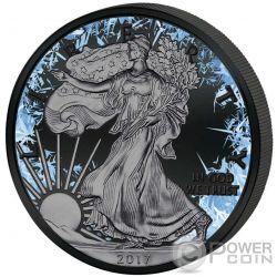 WALKING LIBERTY Deep Frozen Edition 1 Oz Silber Münze 1$ US Mint 2017