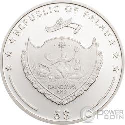 OUNCE OF LUCK Four Leaf Clover 1 Oz Серебро Монета 5$ Палау 2018
